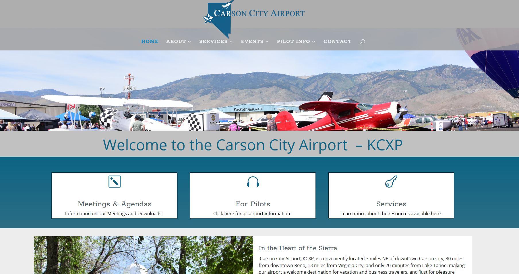 Carson City Airport Website