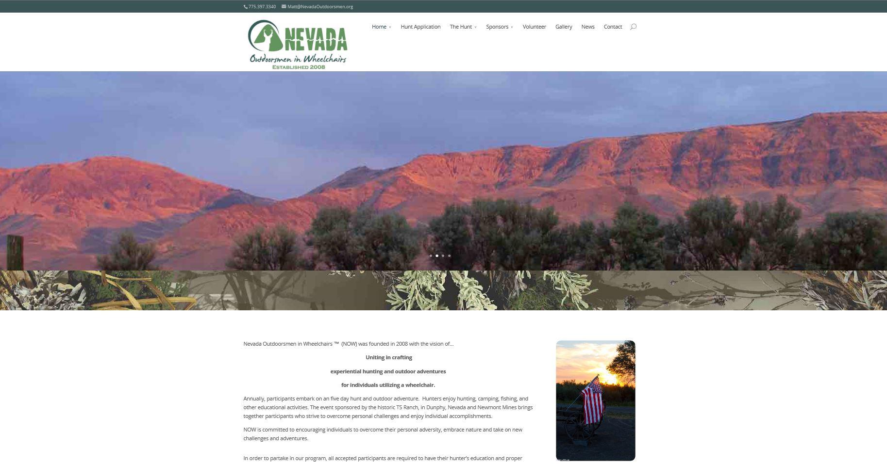 Nevada Outdoorsmen Website