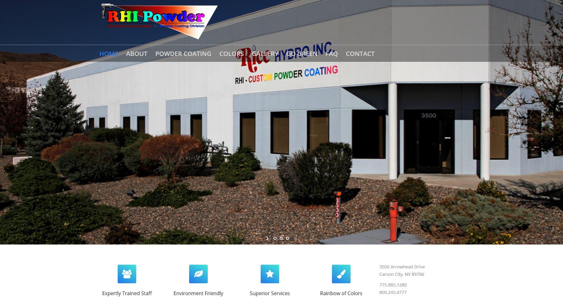 RHI Powder Website