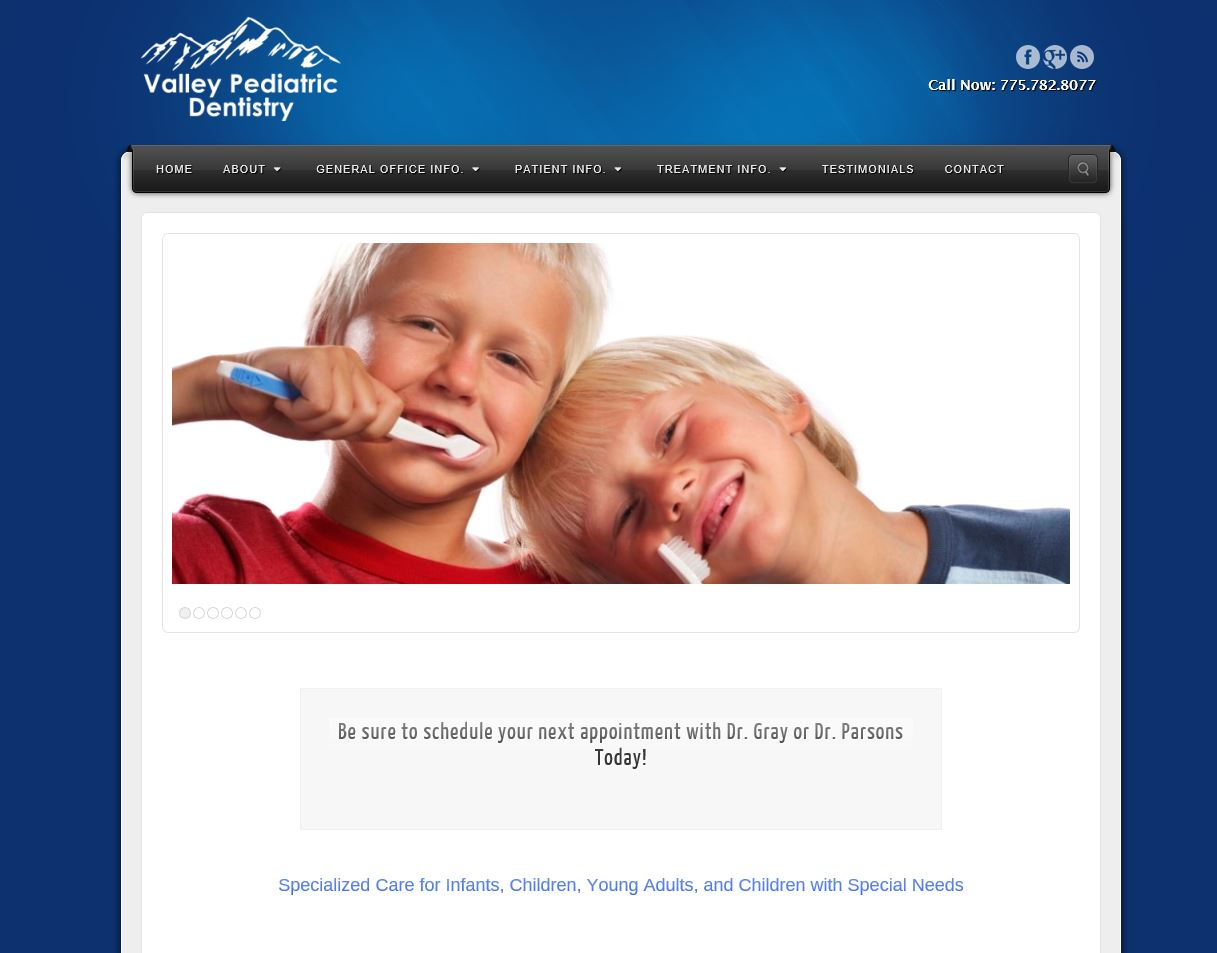 Valley Pediatric Dentistry Website