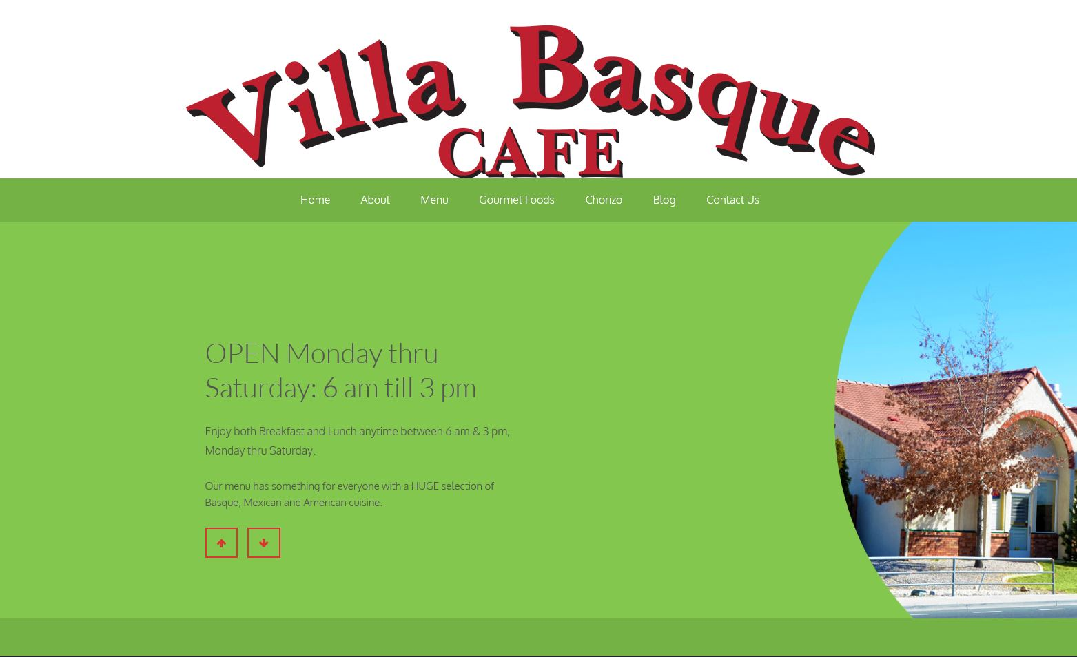 Villa Basque Cafe Website